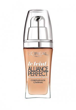 Тональный крем LOreal Paris L'Oreal Alliance Perfect, Совершенное слияние, выравнивающий и увлажняющий, оттенок N3, 30 мл. Цвет: бежевый