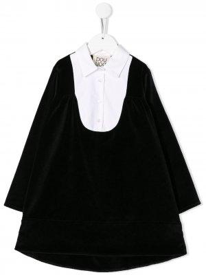 Платье с манишкой Douuod Kids. Цвет: синий