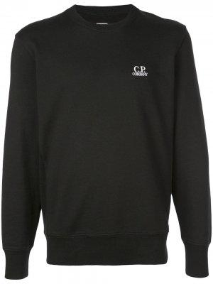 Толстовка с вышитым логотипом CP Company. Цвет: черный