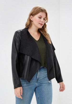 Куртка кожаная Evans EV006EWCIID0. Цвет: черный