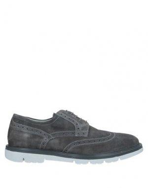 Обувь на шнурках NERO GIARDINI. Цвет: серый