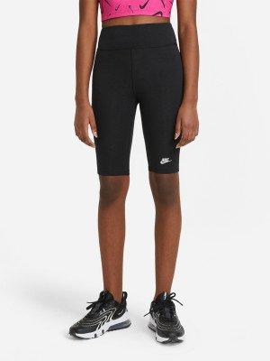 Бриджи для девочек Sportswear, размер 128-137 Nike. Цвет: черный