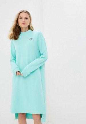 Платье Barmariska Бриллиант. Цвет: бирюзовый