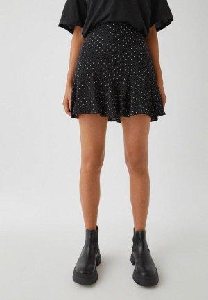 Юбка-шорты Pull&Bear. Цвет: черный