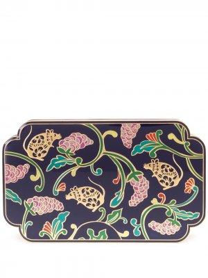 Эмалированная прямоугольная шкатулка Shanghai Tang. Цвет: синий