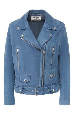 Кожаная куртка Acne Studios. Цвет: голубой