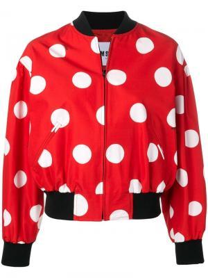 Куртка-бомбер в горох MSGM. Цвет: красный