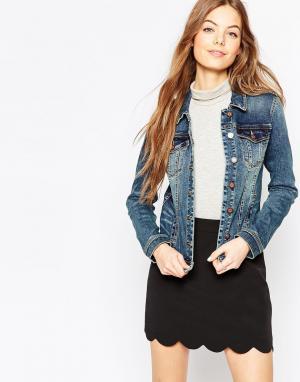 Джинсовая куртка Vila. Цвет: темно-синий джинс