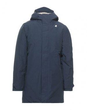 Пальто K-WAY. Цвет: темно-синий