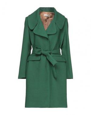 Легкое пальто KI6? WHO ARE YOU?. Цвет: темно-зеленый