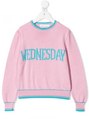 Трикотажный джемпер Wednesday Alberta Ferretti Kids. Цвет: розовый