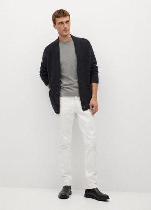 Кардиган с карманами - Sudoku Mango. Цвет: меланжевый темно-серый