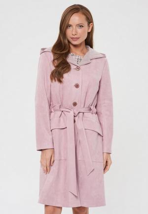 Пальто Akimbo. Цвет: розовый