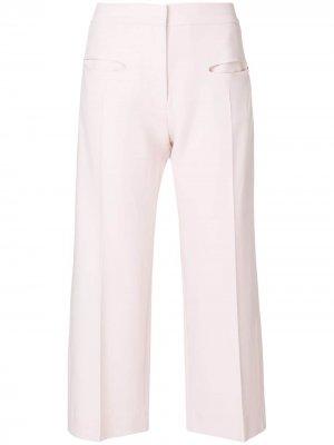 Широкие укороченные брюки Carven. Цвет: розовый