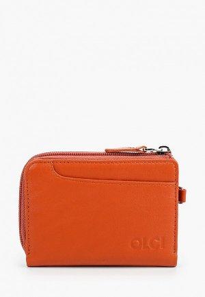 Кошелек Olci. Цвет: оранжевый