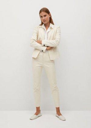 Костюмные брюки-дудочки - Cofi7-n Mango. Цвет: бежевый
