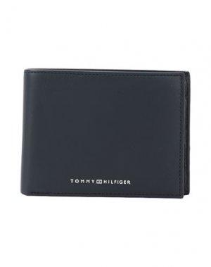 Бумажник TOMMY HILFIGER. Цвет: темно-синий