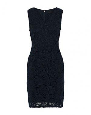 Короткое платье DONNA KARAN. Цвет: темно-синий