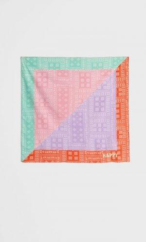 Платок С Цветовыми Блоками И Принтом Пейсли Пастельно-Розовый 103 Stradivarius. Цвет: пастельно-розовый