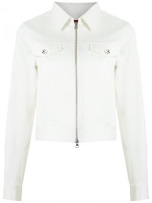 Укороченная куртка À La Garçonne. Цвет: белый