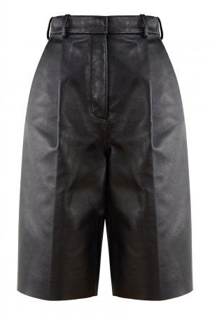 Черные кожаные шорты Acne Studios. Цвет: черный