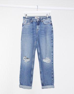 Голубые рваные джинсы бойфренда -Голубой New Look