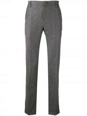 Классические брюки в клетку Dondup. Цвет: серый