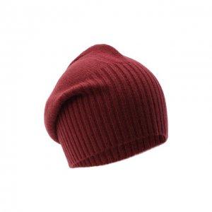 Кашемировая шапка Allude. Цвет: красный