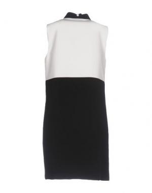 Короткое платье ATOS LOMBARDINI. Цвет: белый