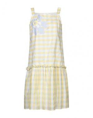 Платье до колена ATINSIGHT by ANDREA TURCHI. Цвет: желтый