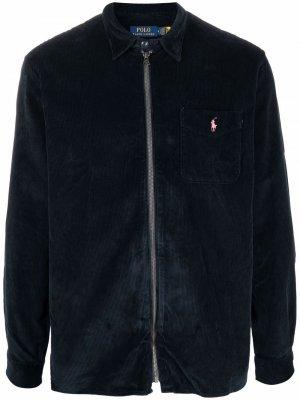 Вельветовая куртка с вышивкой Polo Pony Ralph Lauren. Цвет: синий