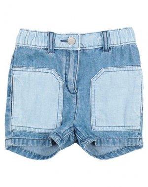 Джинсовые шорты STELLA McCARTNEY KIDS. Цвет: синий