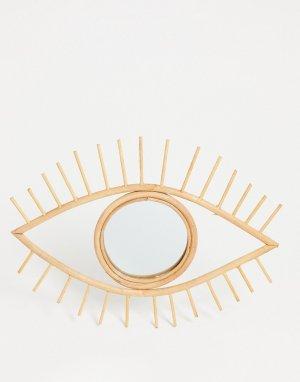 Зеркало из ротанга в виде глаза -Multi Sass & Belle