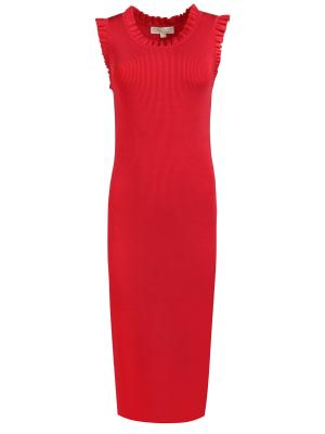 Трикотажное платье MICHAEL KORS. Цвет: красный