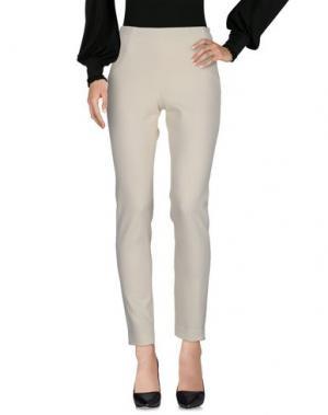 Повседневные брюки IRMA BIGNAMI. Цвет: слоновая кость