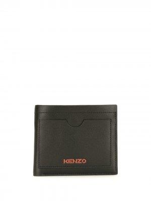 Бумажник с логотипом Kenzo. Цвет: черный