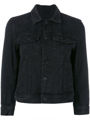 Укороченная джинсовая куртка Helmut Lang. Цвет: чёрный