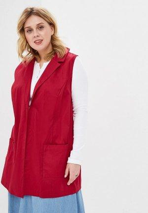 Жилет Darissa Fashion. Цвет: бордовый