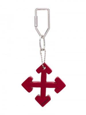Брелок Arrows Off-White. Цвет: красный