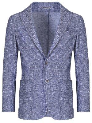 Пиджак классический CANALI. Цвет: синий