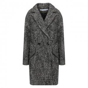 Пальто из шерсти и хлопка Iro. Цвет: чёрно-белый