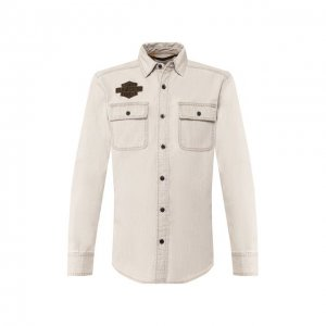 Хлопковая рубашка 1903 Harley-Davidson. Цвет: бежевый