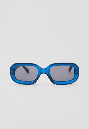 Очки солнцезащитные Pull&Bear. Цвет: синий