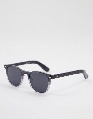 Квадратные солнцезащитные очки унисекс в серой оправе Cut Twenty Four-Серый Spitfire