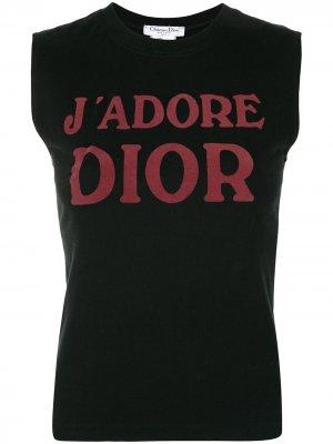 Топ pre-owned с принтом Jadore Dior Christian. Цвет: черный