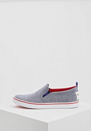 Слипоны Trussardi Jeans. Цвет: серый