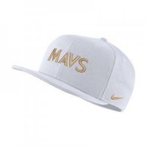 Бейсболка НБА Pro Dallas Mavericks City Edition - Белый Nike
