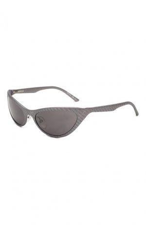 Солнцезащитные очки Balenciaga. Цвет: серебряный