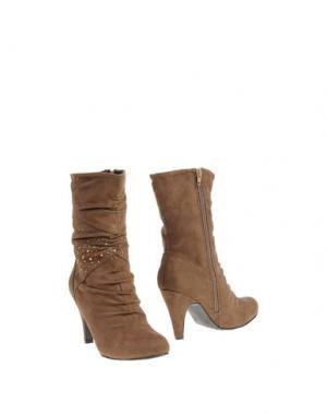 Полусапоги и высокие ботинки ANNA FIELD. Цвет: верблюжий