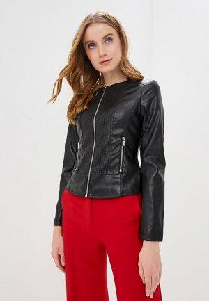 Куртка кожаная Ostin O'stin. Цвет: черный
